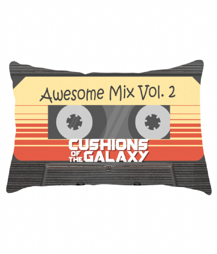 "20"" x 12"" Awesome Mix Vol 2 Lumbar Cushion Inspired by Guardians of the Galaxy"